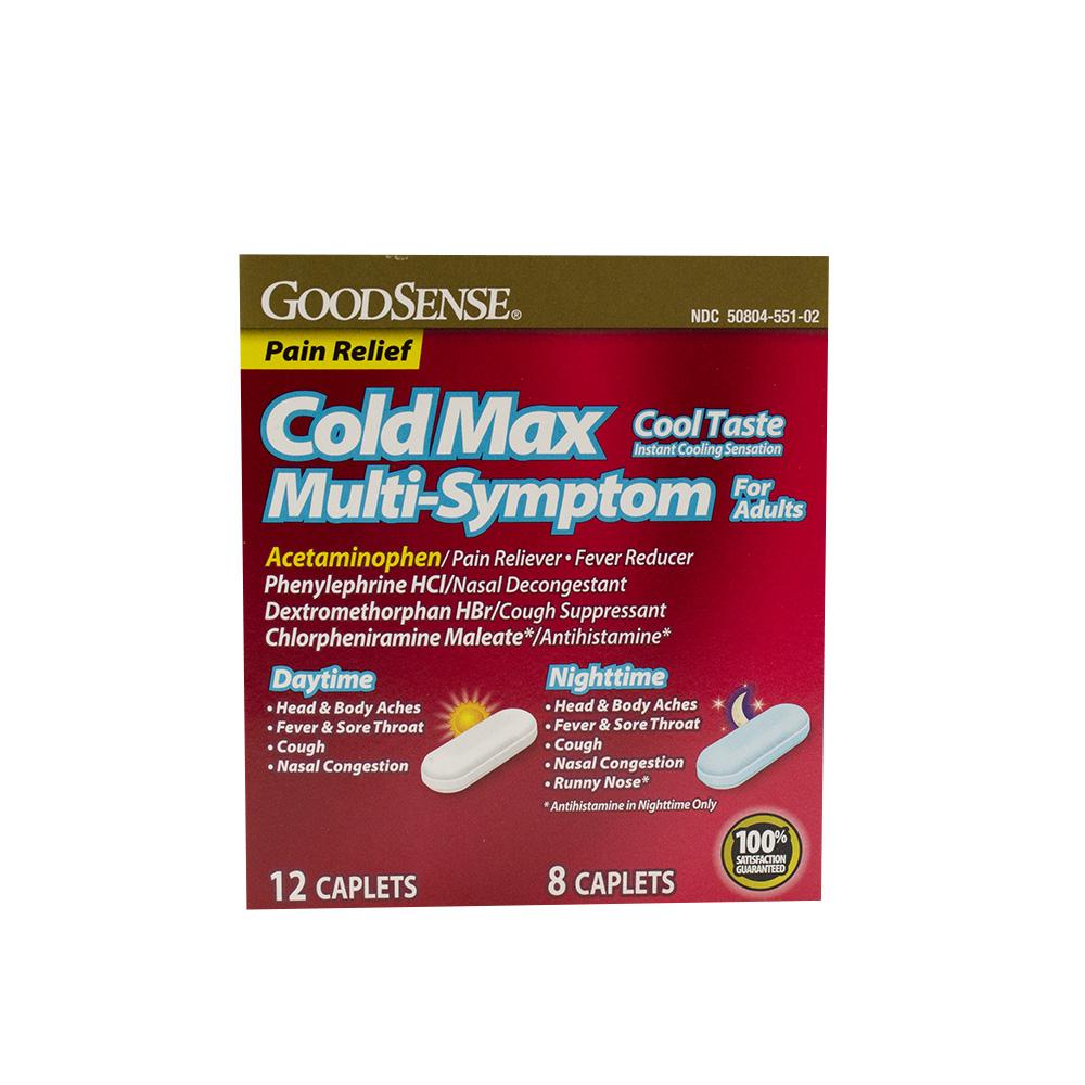 GoodSense® ColdMax Cool Taste Multi-Symptom Adult Daytime/Nightime